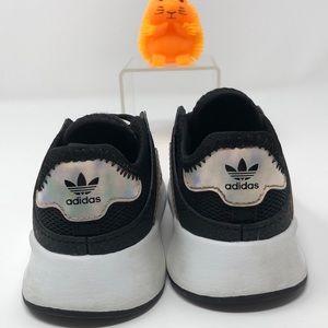Adidas Original Black with Iridescent Stripes Kids